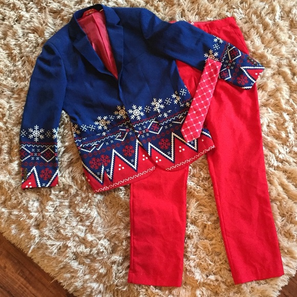 Shinesty Christmas Suits.Shinesty Navy Nordic Ugly Christmas Suit